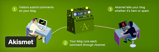 akismet wordpress spam plugin